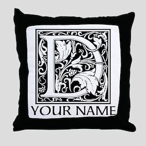 Custom Decorative Letter D Throw Pillow