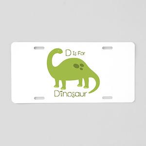 D Is For Dinosaur Aluminum License Plate