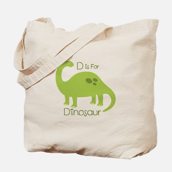 D Is For Dinosaur Tote Bag