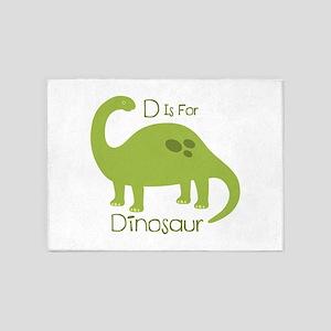 D Is For Dinosaur 5'x7'Area Rug