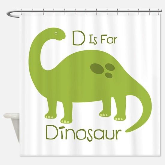 D Is For Dinosaur Shower Curtain