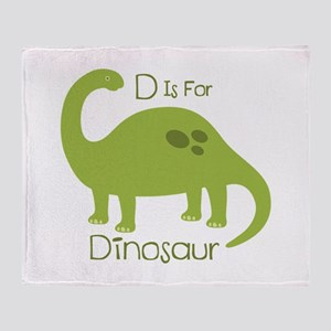 D Is For Dinosaur Throw Blanket
