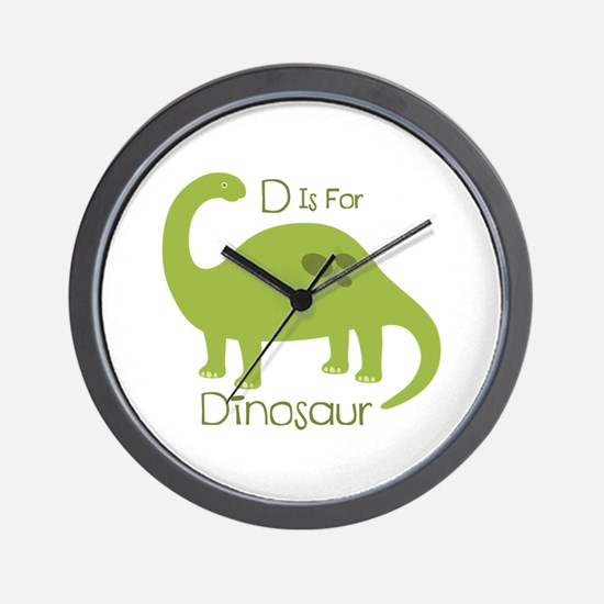 D Is For Dinosaur Wall Clock