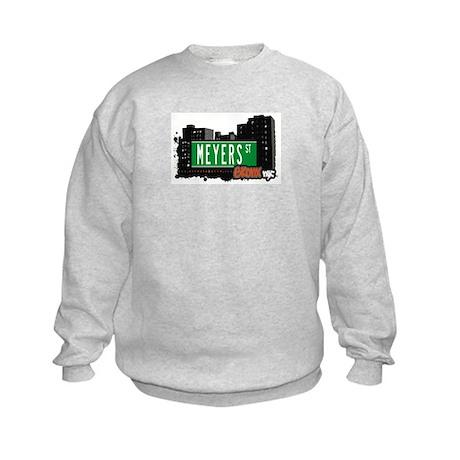 Meyers St, Bronx, NYC Kids Sweatshirt