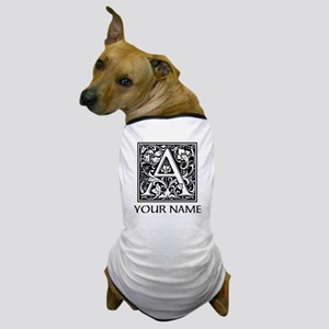 Custom Decorative Letter A Dog T-Shirt
