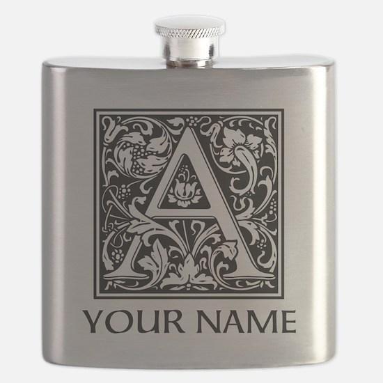 Custom Decorative Letter A Flask