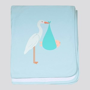 Stork Baby Delivery baby blanket