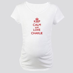 Keep Calm and Love Charlie Maternity T-Shirt