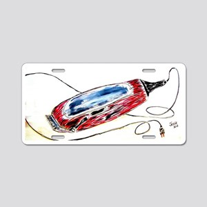 Barber Clippers Aluminum License Plate