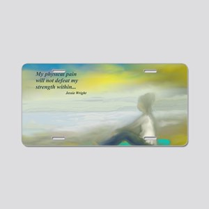 Strength Within Aluminum License Plate