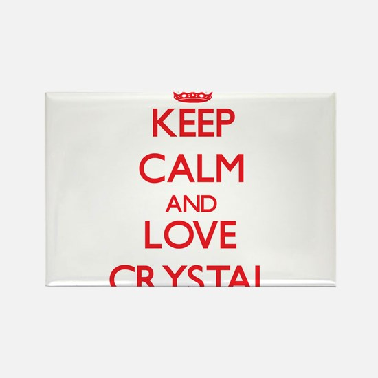 Keep Calm and Love Crystal Magnets