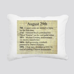 August 29th Rectangular Canvas Pillow
