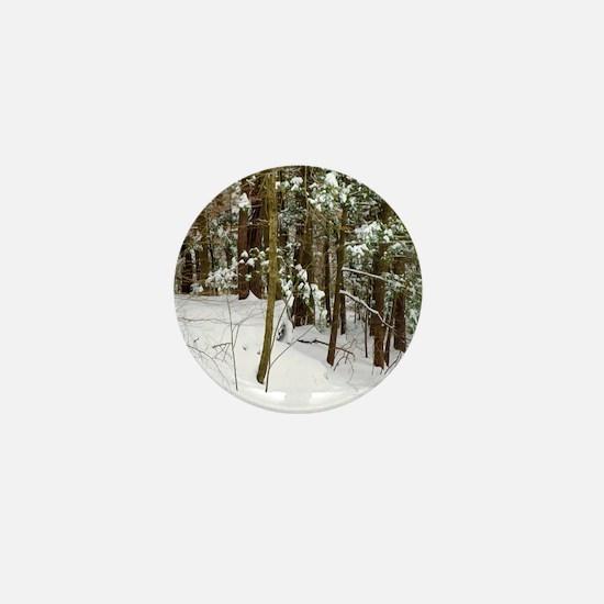 Winter forest Mini Button
