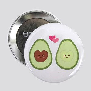 """Cute Avocado in love, perfect other half 2.25"""" But"""