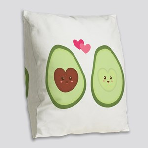 Cute Avocado in love, perfect other half Burlap Th