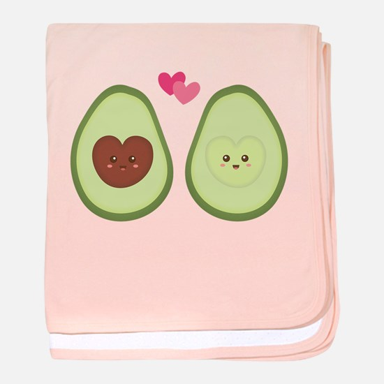 Cute Avocado in love, perfect other half baby blan
