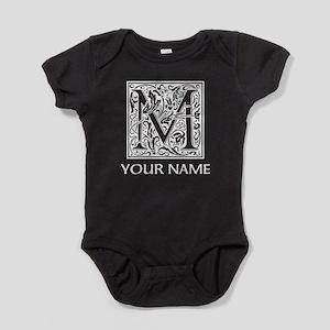 Custom Decorative Letter M Baby Bodysuit