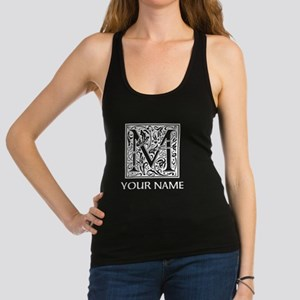 Custom Decorative Letter M Racerback Tank Top