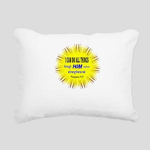 I Can Do-Philippians Rectangular Canvas Pillow