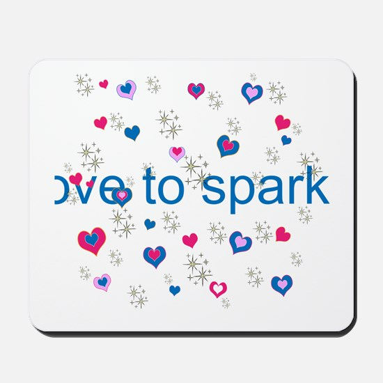 Cute Girly LOVE TO SPARKLE! Mousepad