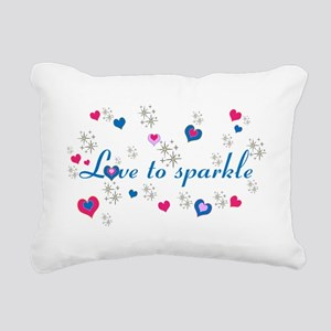 Cute Girly LOVE TO SPARKLE! Rectangular Canvas Pil