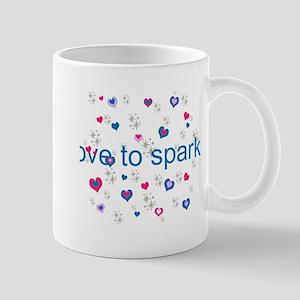 Cute Girly LOVE TO SPARKLE! Mugs