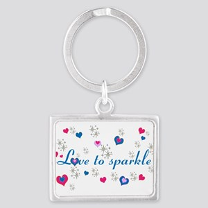Cute Girly LOVE TO SPARKLE! Keychains