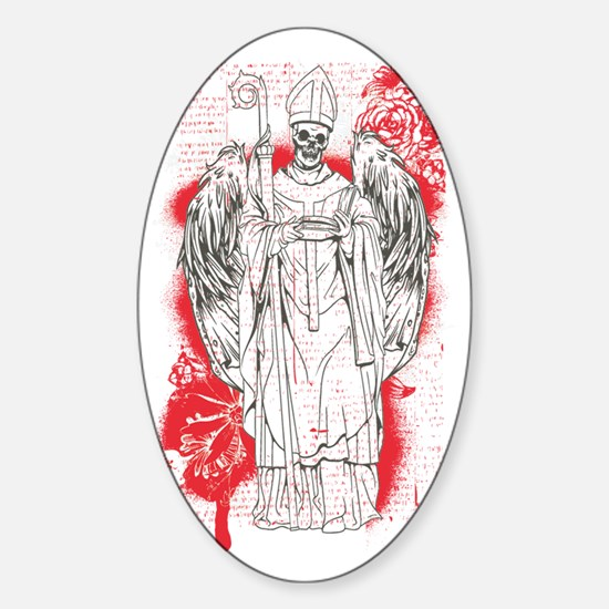 Religion is dead - bananaharvest Sticker (Oval)
