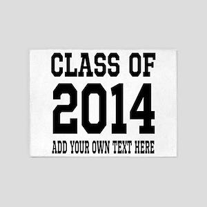 Class of 2014 Graduation 5'x7'Area Rug