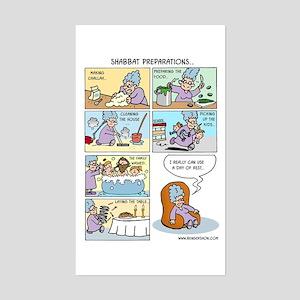 Shabbat Preparations Sticker (Rectangle)