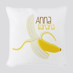 Anna Banana Woven Throw Pillow