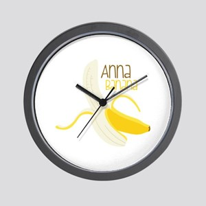 Anna Banana Wall Clock
