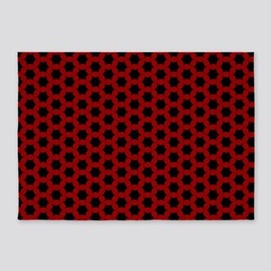 Red Honeycomb 5'x7'Area Rug
