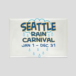Seattle Rain Carnival Rectangle Magnet