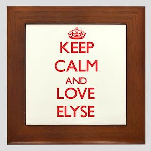 Keep Calm and Love Elyse Framed Tile
