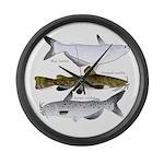 Three North American Catfish Large Wall Clock