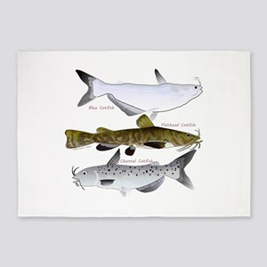 Three North American Catfish 5'x7'Area Rug
