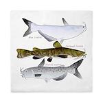 Three North American Catfish Queen Duvet