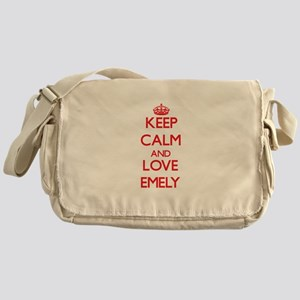 Keep Calm and Love Emely Messenger Bag