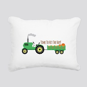 Time To Hit The Hay! Rectangular Canvas Pillow