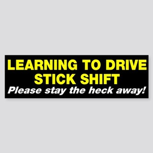 Learning to drive stick shift Sticker (Bumper)