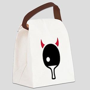 Table tennis Devil Canvas Lunch Bag