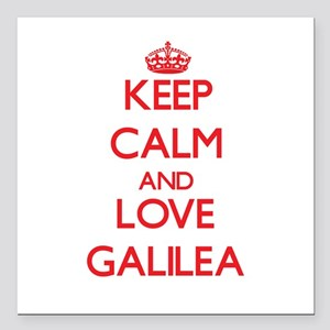 "Keep Calm and Love Galilea Square Car Magnet 3"" x"