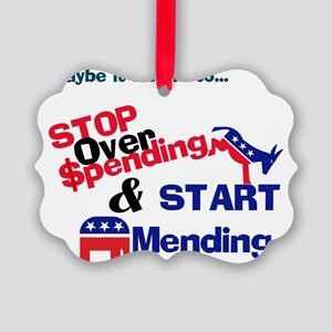 Stop overspending  Picture Ornament
