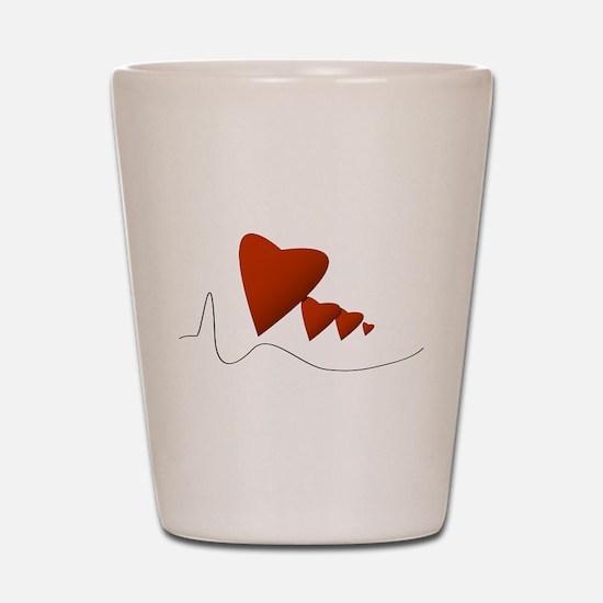 Heartbeats - Shot Glass