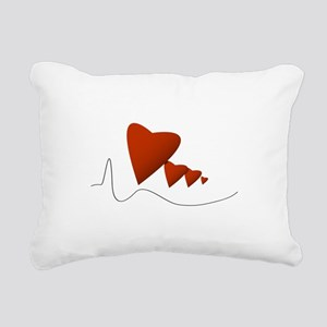 Heartbeats - Rectangular Canvas Pillow