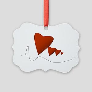 Heartbeats - Picture Ornament