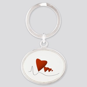 Heartbeats - Oval Keychain