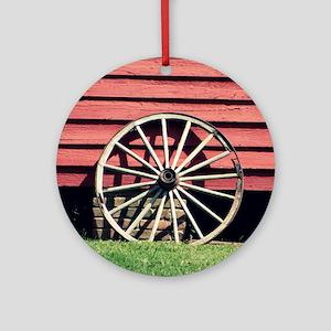 Wagon Wheel Ornament (Round)