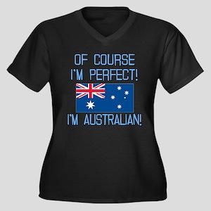 Perfect Aust Women's Plus Size V-Neck Dark T-Shirt